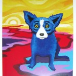 Blue Dog on the River par George RodrigueBlue Dog on the River par George Rodrigue