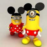 minions-mickey et minnie